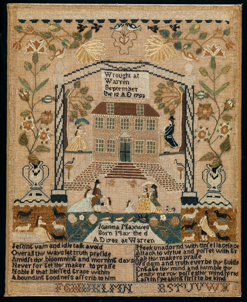 textiles have long been celebrated as the principal contribution that women made to the discipline of early american decorative arts - Dewitt Wallace Decorative Arts Museum